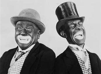 Esempio di blackface caricaturali